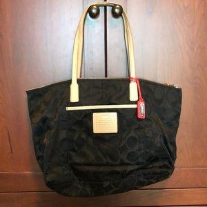 Black nylon coach purse